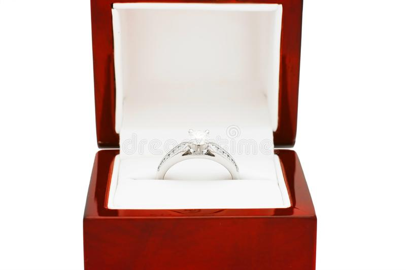 Diamond Engagement Ring royalty free stock images