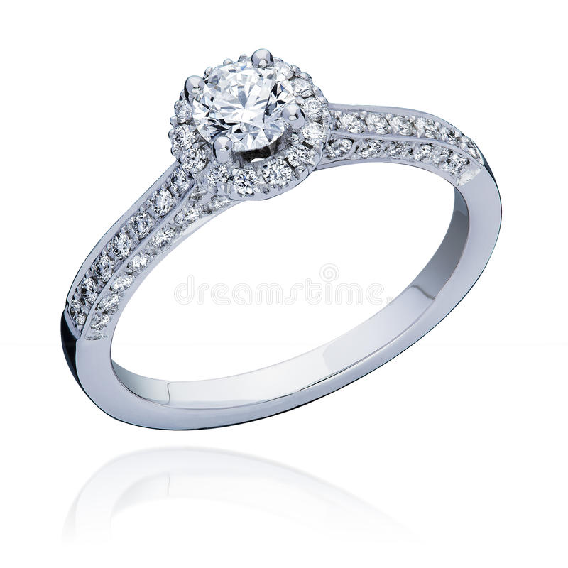 Diamond Engagement Ring fotografie stock libere da diritti