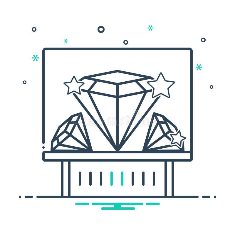 Black mix icon for Diamond exhibit, sparkler and shiner. Black mix icon for Diamond exhibit, museum, diamond, logo,  sparkler and shiner royalty free illustration