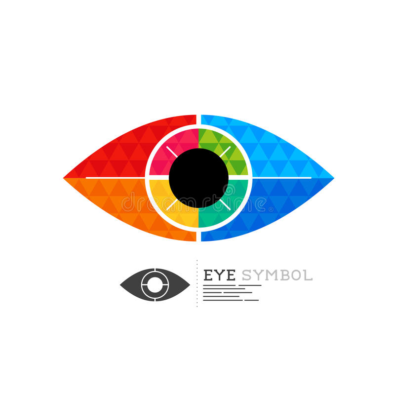 Diamond Eye Vector Symbol stock de ilustración