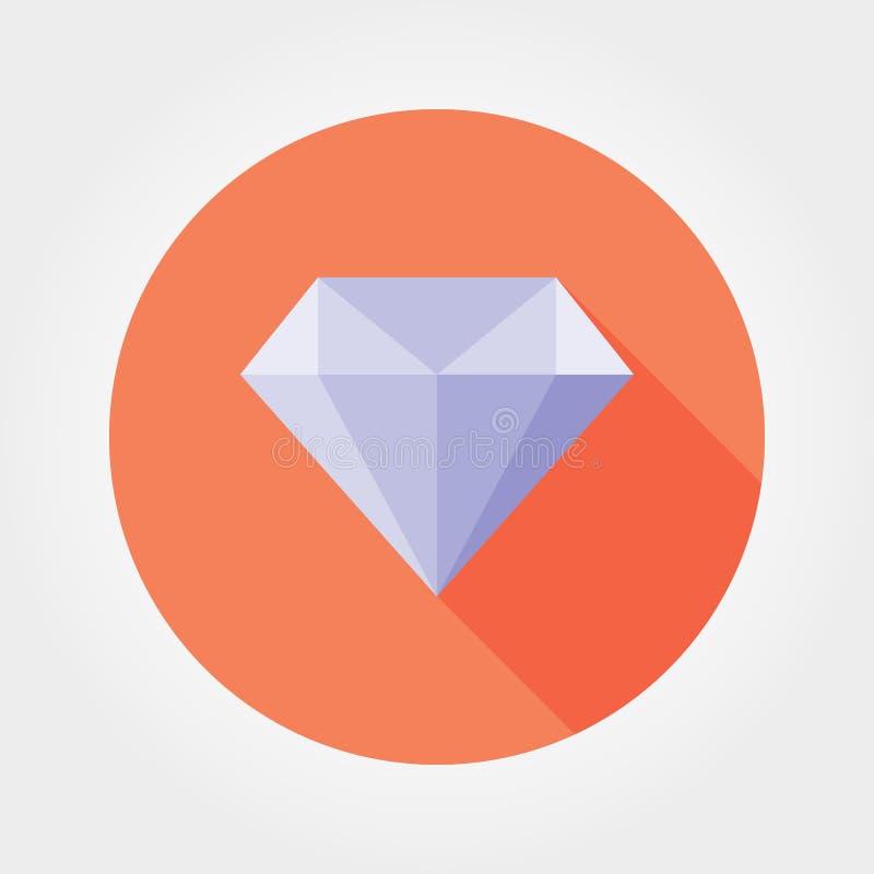 Diamond. Flat. Icon. Vector vector illustration