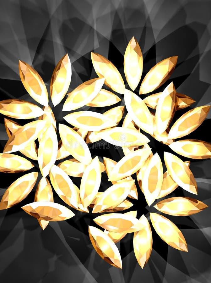 Download Diamond flower 2 stock illustration. Illustration of beauty - 2206612