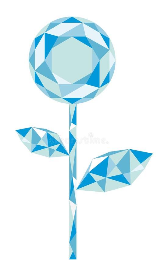 Diamond Flower fotografia de stock royalty free