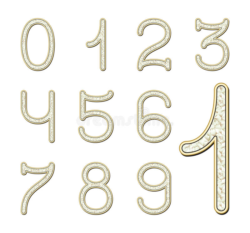 Download Diamond font stock vector. Illustration of design, jewel - 23320590