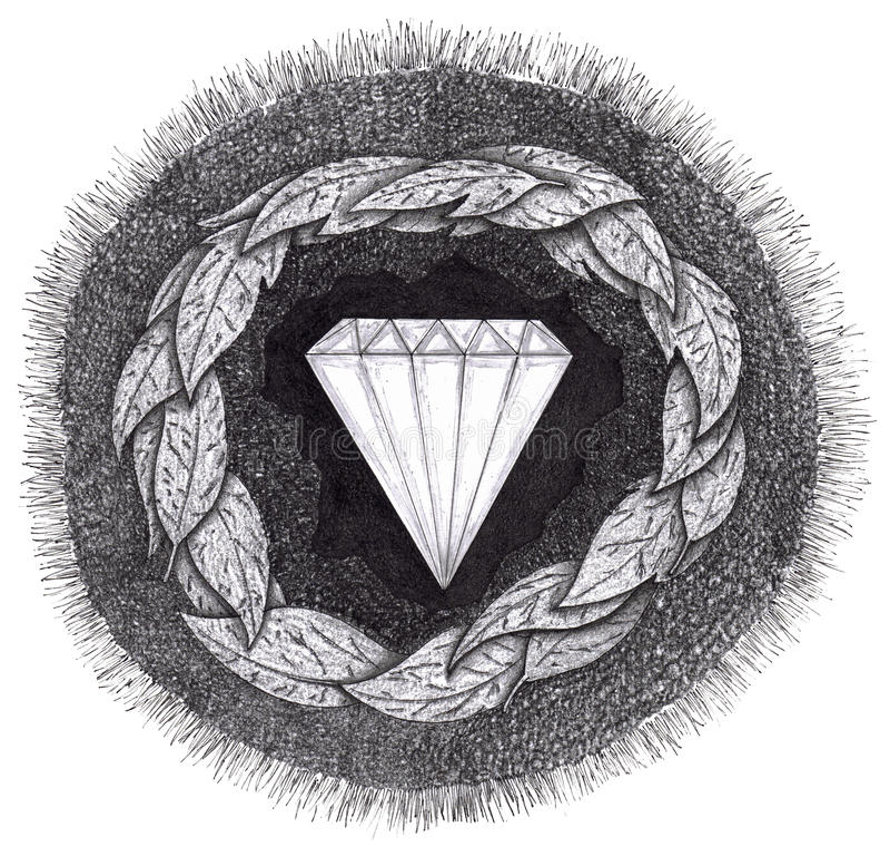 Download Diamond Is Formed Under Great Pressure Stock Illustration - Illustration: 14711537
