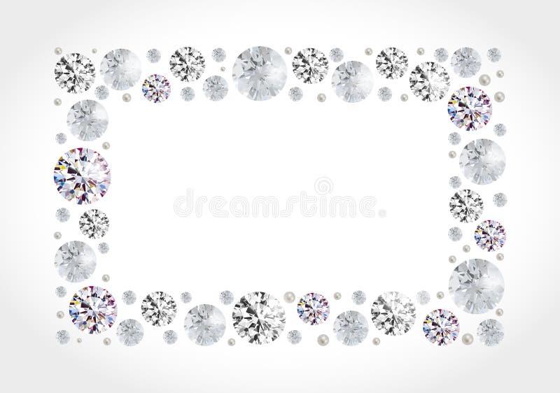 Diamond Frame illustrazione di stock