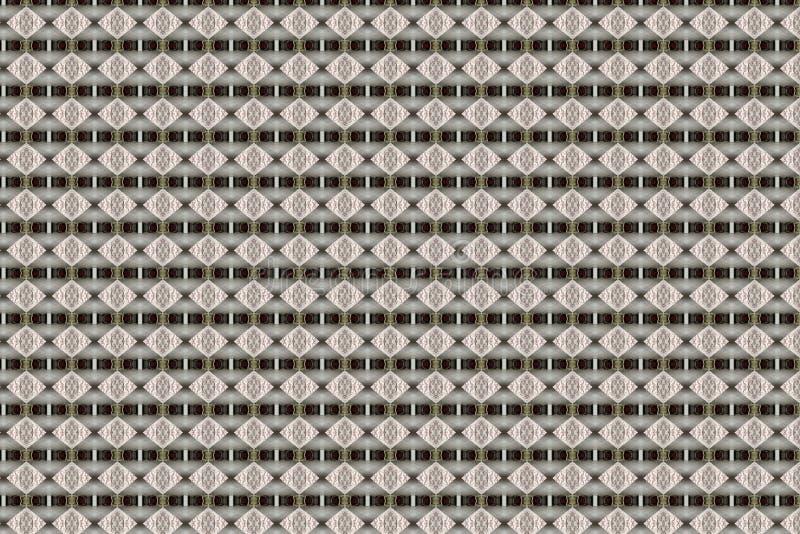 Diamond Geometric Abstract Pattern beige strutturato royalty illustrazione gratis