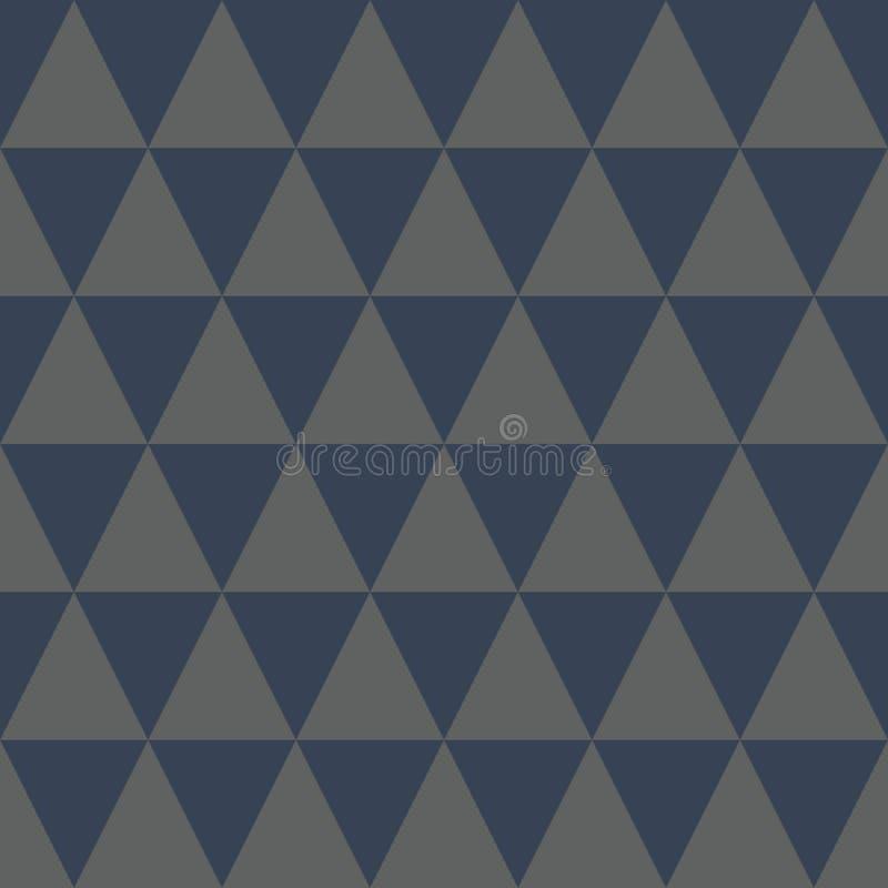 Diamond Geometric Pattern Blue and Grey Color. Modern design, home decor vector illustration