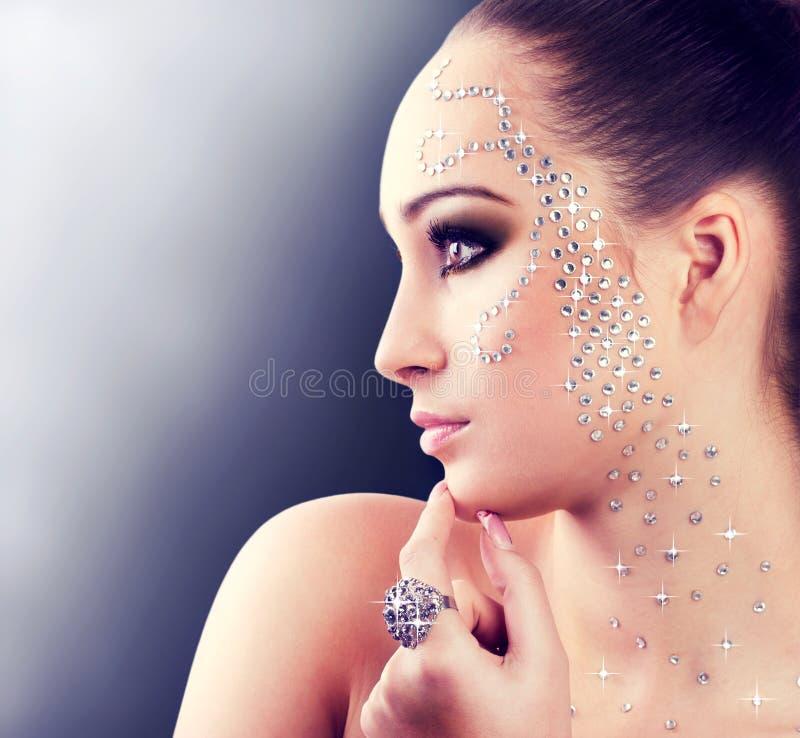 Diamond girl royalty free stock image