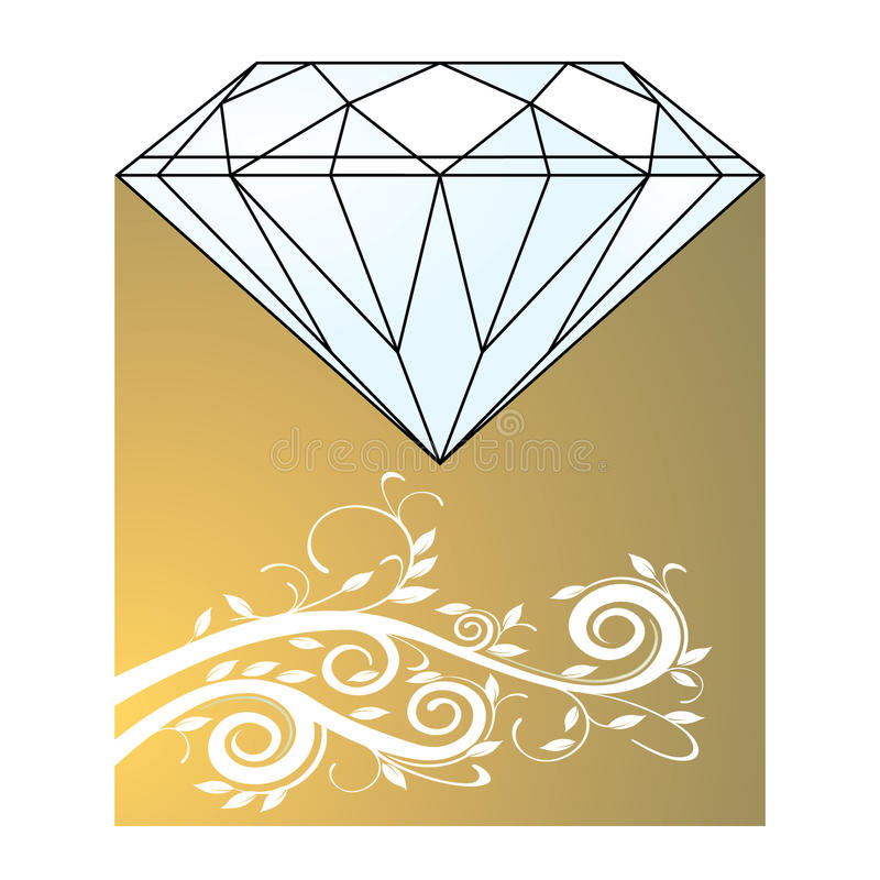 Download Diamond and gold stock vector. Image of jewel, carat - 15014216