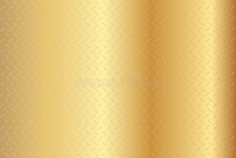Diamond Gold Texture Background sans couture illustration libre de droits