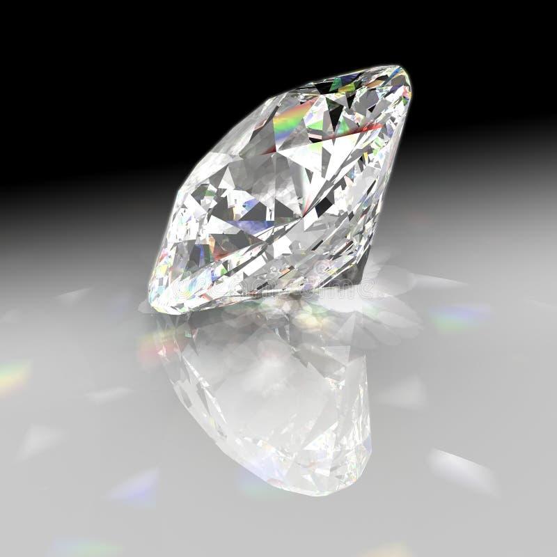 Diamond with gradient background