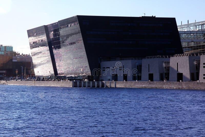 Diamond Grand Library noir, Danemark image stock