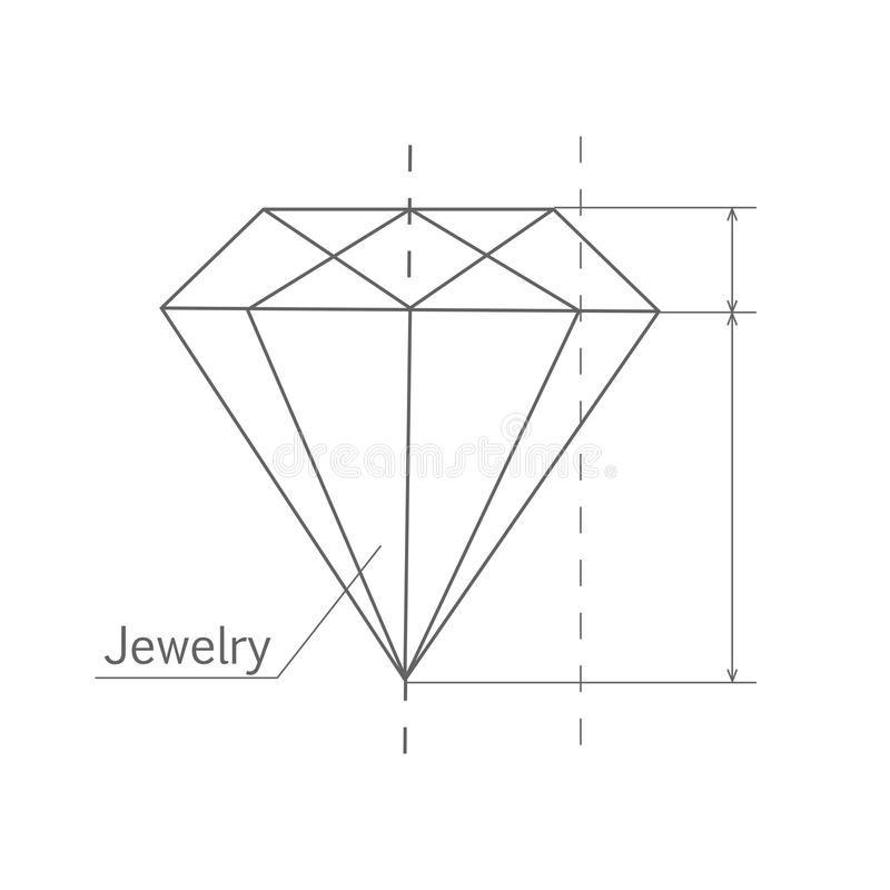 Diamond Graphic Scheme stock abbildung