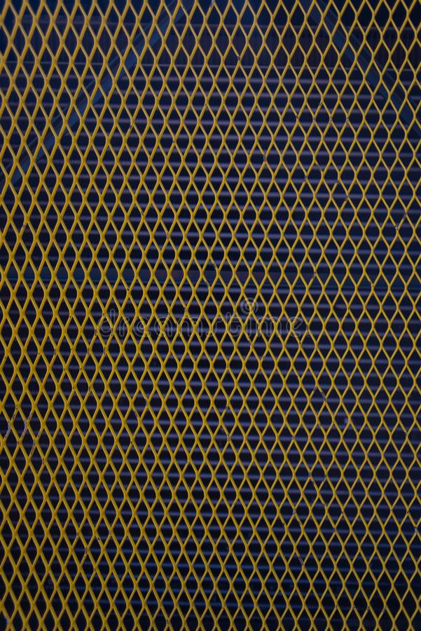 Diamond Grid Vent amarillo fotos de archivo