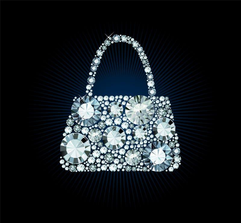 Diamond Handbag vector illustration