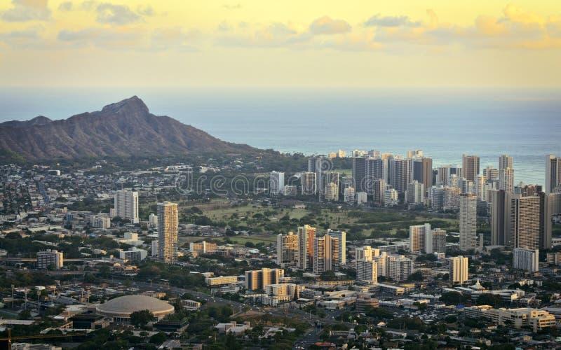 Download Diamond head and Honolulu stock photo. Image of oahu - 26080640