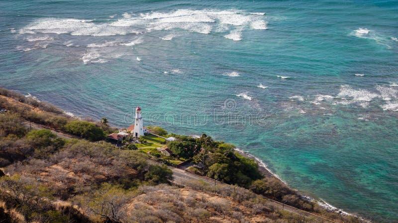 Diamond Head Lighthouse fotografia de stock royalty free