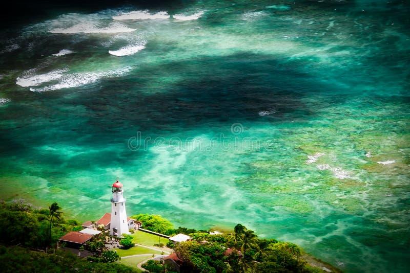 Diamond Head Lighthouse en Honolulu, Hawaii fotografía de archivo
