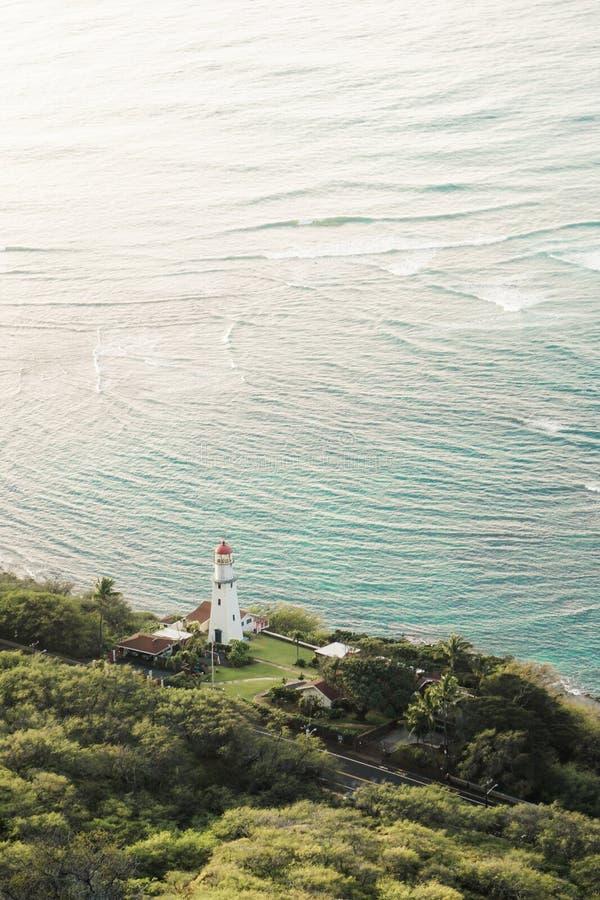 Diamond Head Lighthouse Honolulu Hawaii fotografie stock libere da diritti