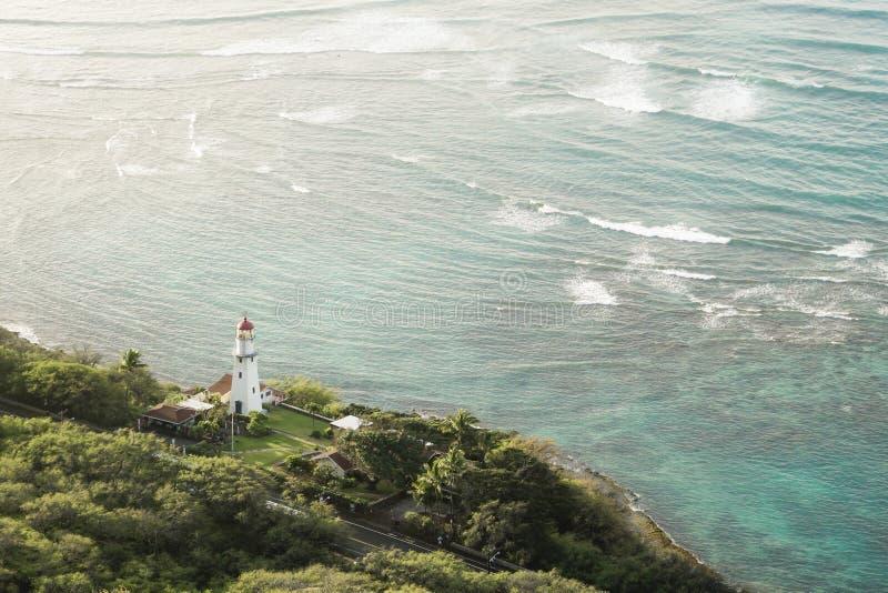 Diamond Head Lighthouse Honolulu Hawaii stock photography