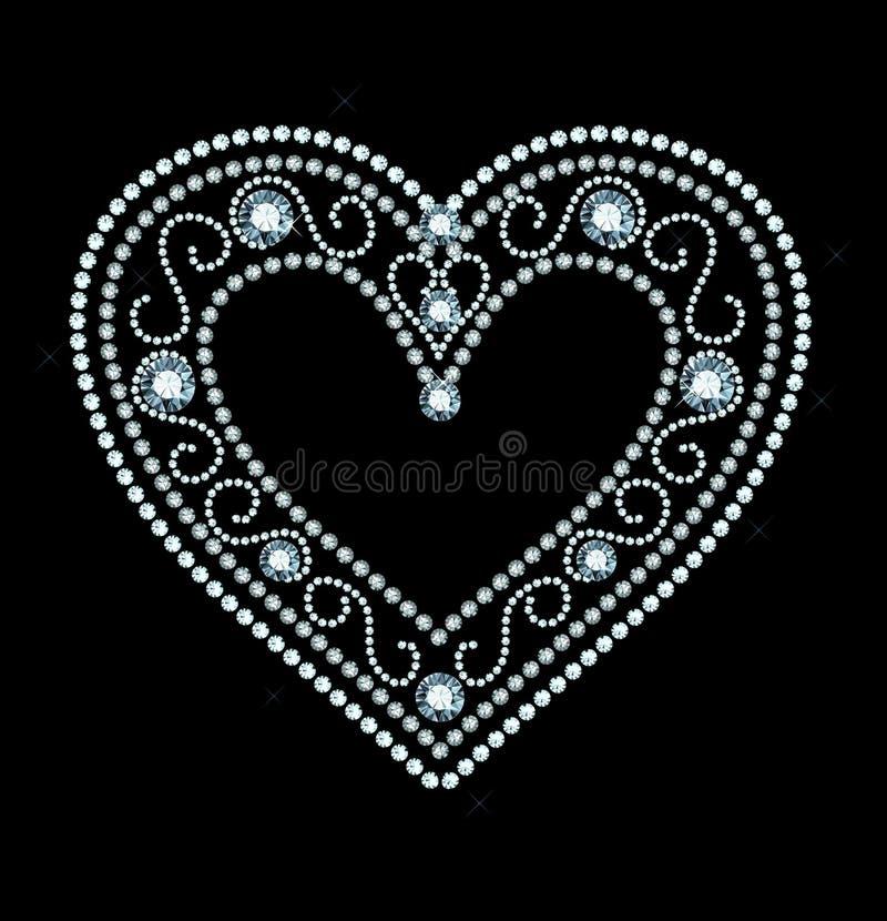 Diamond Heart stock illustratie