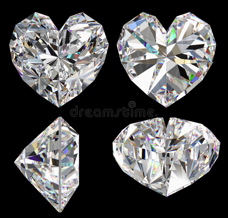 Download Diamond heart isolated stock illustration. Image of heart - 14416324