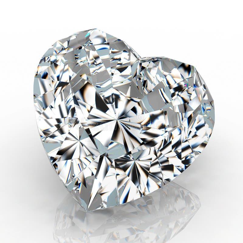 Diamond heart shape royalty free stock image