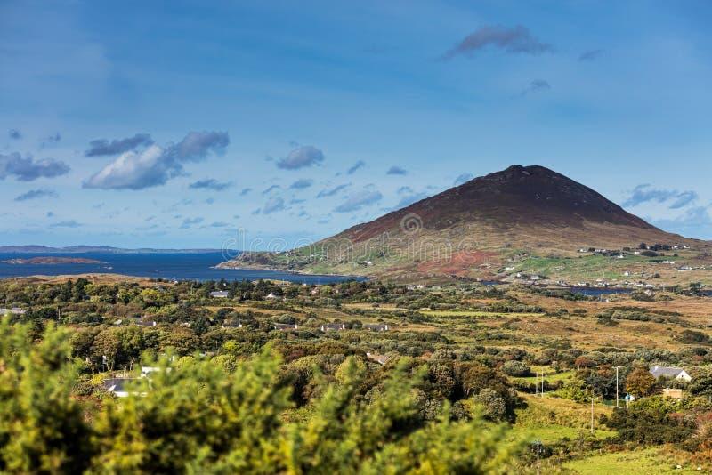 Diamond Hill de parc national de Connemara, Letterfrack, Co galway Irlande photos stock