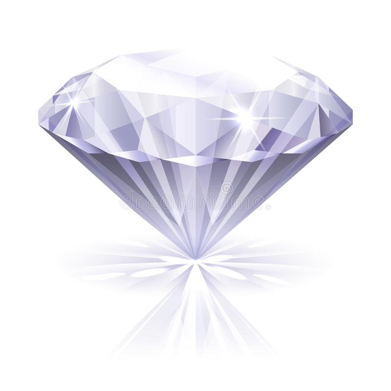 Diamond icon royalty free illustration