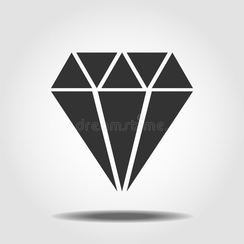 Diamond Icon Vector Symbole plat simple Illustration noire parfaite de pictogramme sur le fond blanc illustration libre de droits