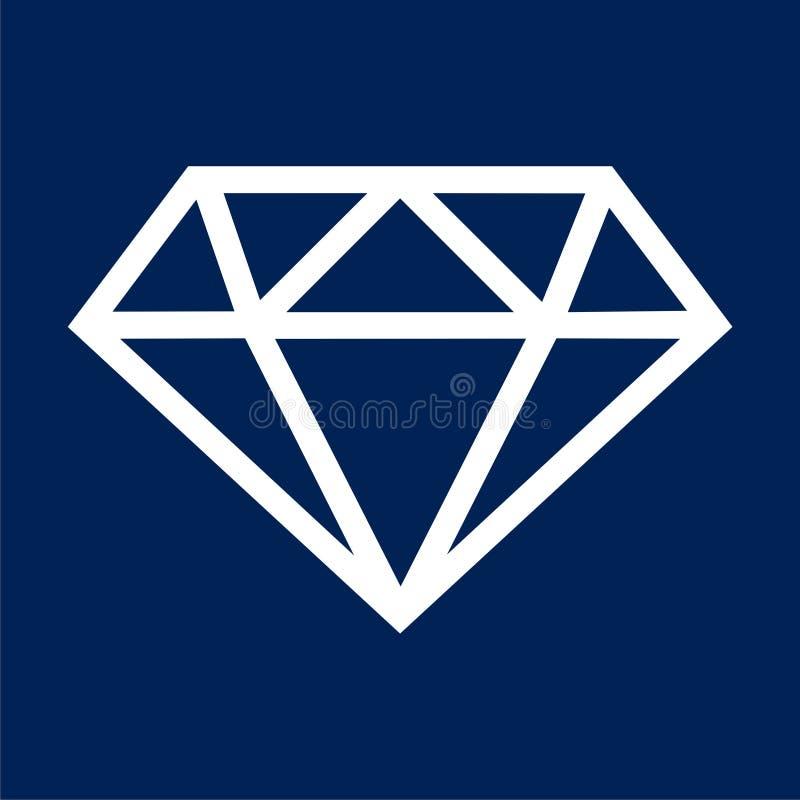 Diamond Icon - vectorillustratie vector illustratie
