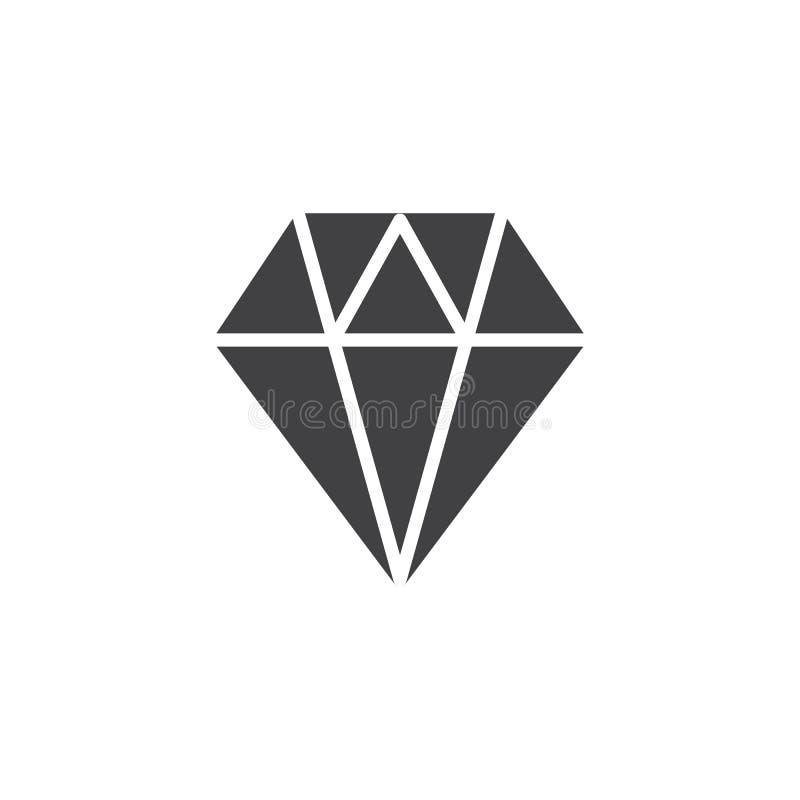 Diamond Icon Vetora ilustração stock