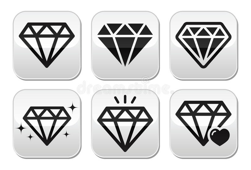 Diamond  Icons Set Stock Images