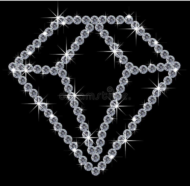 Diamond illustration stock illustration
