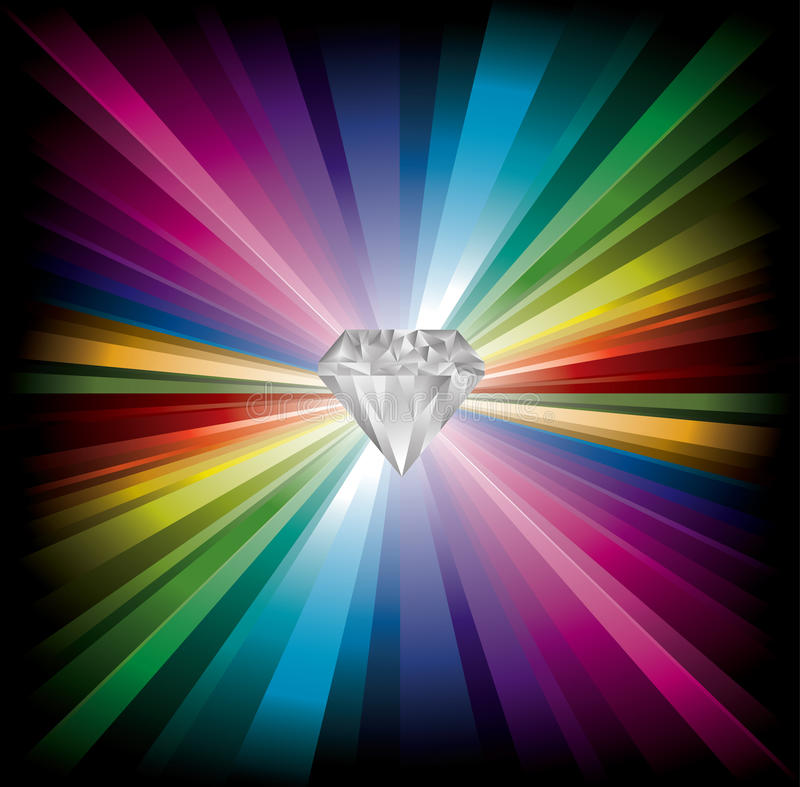diamond illustration vector image rainbow stock template logo design