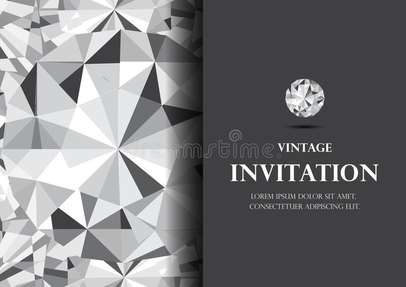 Diamond invitation card luxury background vector stock vector download diamond invitation card luxury background vector stock vector illustration of silver style stopboris Gallery