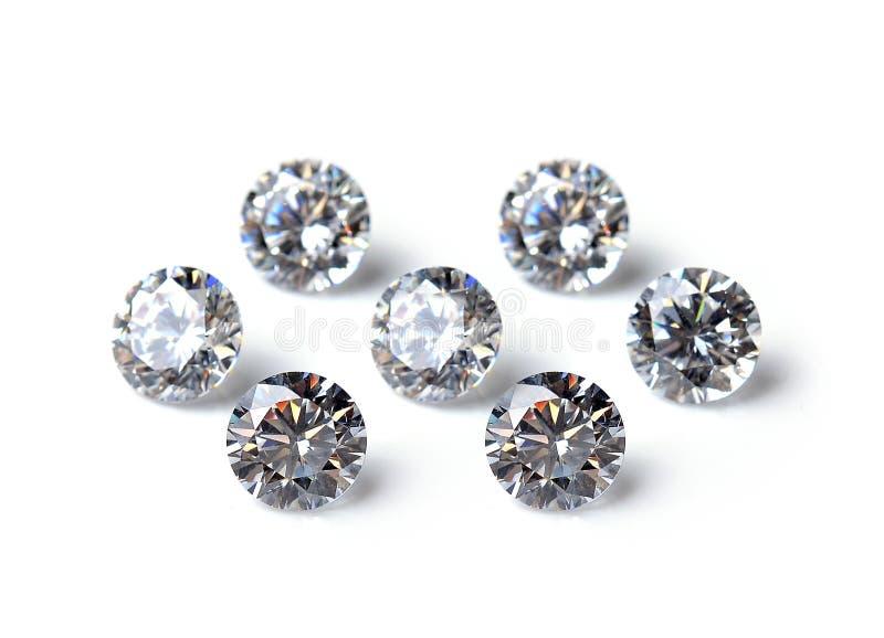 Diamond isolated on white background royalty free stock photos