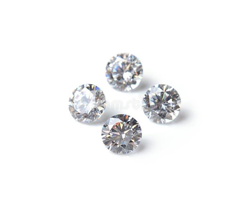 Diamond isolated on white background stock photos