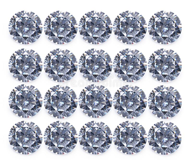 Diamond isolated on white background royalty free stock image