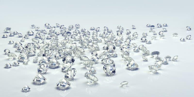 Diamond jewel isolated. Beautiful shape emerald image with reflective surface. Render brilliant jewelry stock image. stock photo