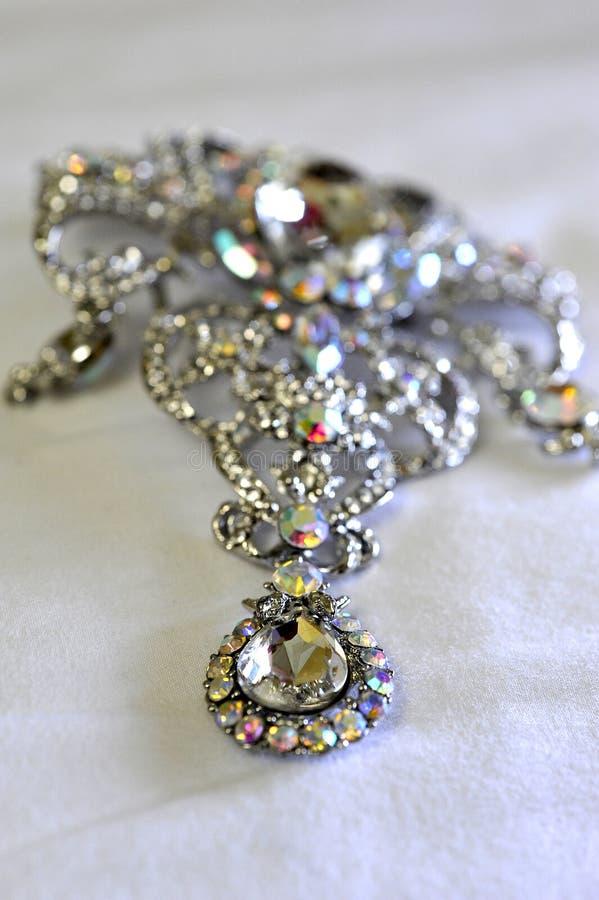 Diamond Jewelry. Shot on cloth stock photos