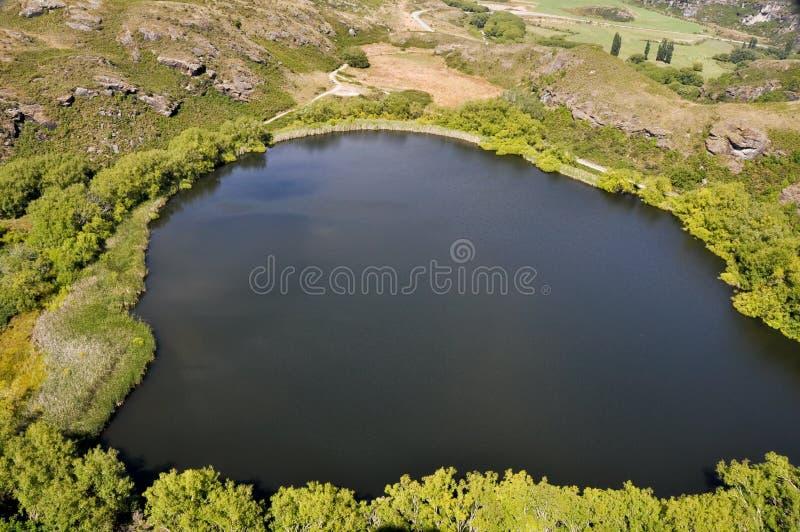 Diamond lake, Wanaka (New Zealand) royalty free stock photography