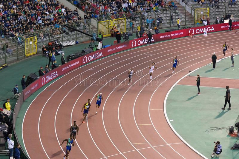 Diamond league, athletic competitions. stock photography