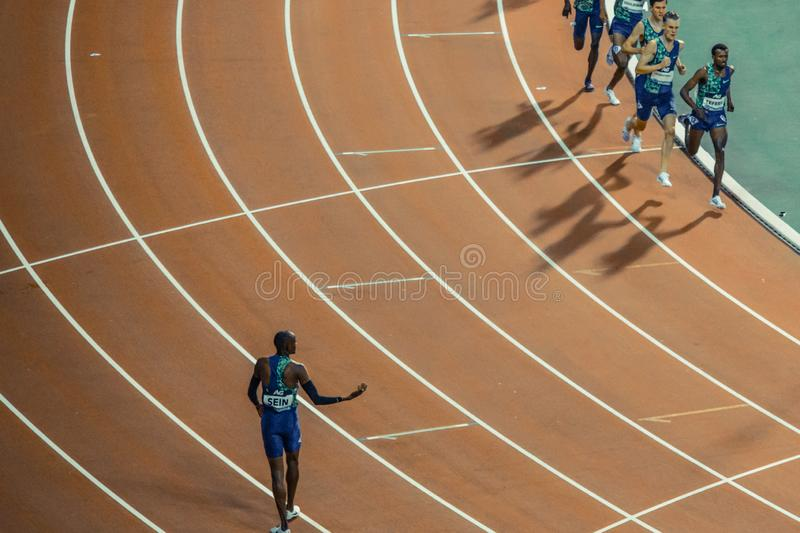 Diamond league, athletic competitions. stock photo