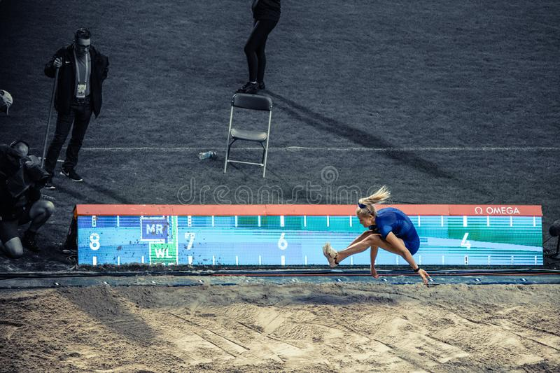 Diamond league, athletic competitions. royalty free stock photography