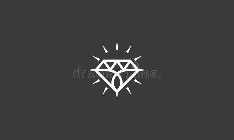 Diamond Line Art Logo Vector-pictogram stock illustratie