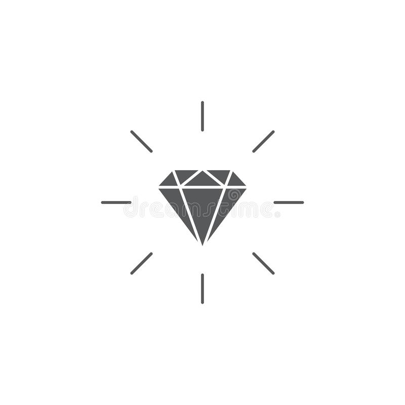 Diamond Line Icon , Outline Vector Sign, Linear Style