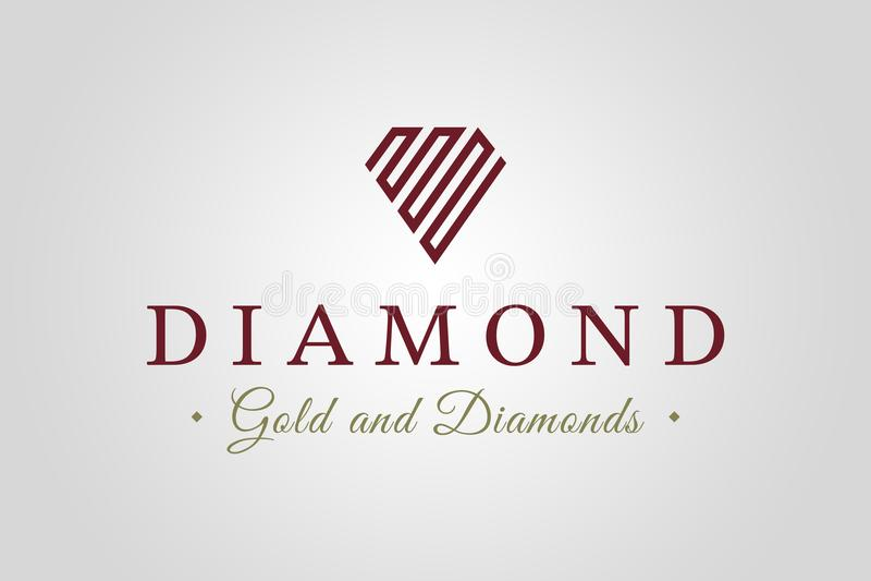 Diamond Logo royalty-vrije stock afbeeldingen