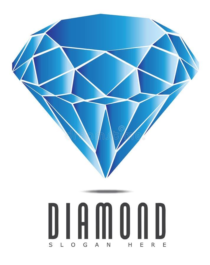 Diamond Logo vektor illustrationer